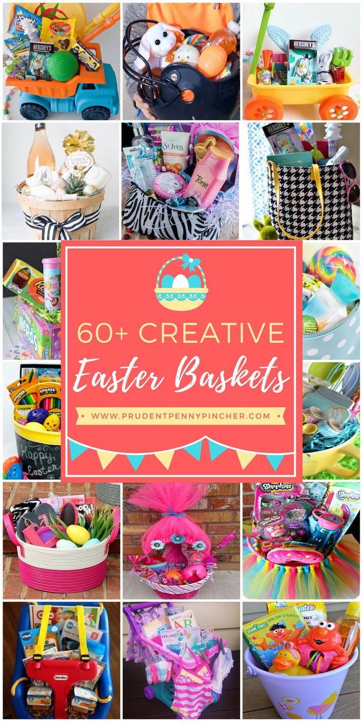 60 Best DIY Easter Basket Ideas #Easter #EasterBaskets #DIY