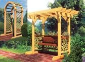 Arbors and Trellises  Add a beautiful garden structure such as a trellis, an arbor, or a wooden pergola to your back yard. These Garden struct...     Plan Shown: 90043