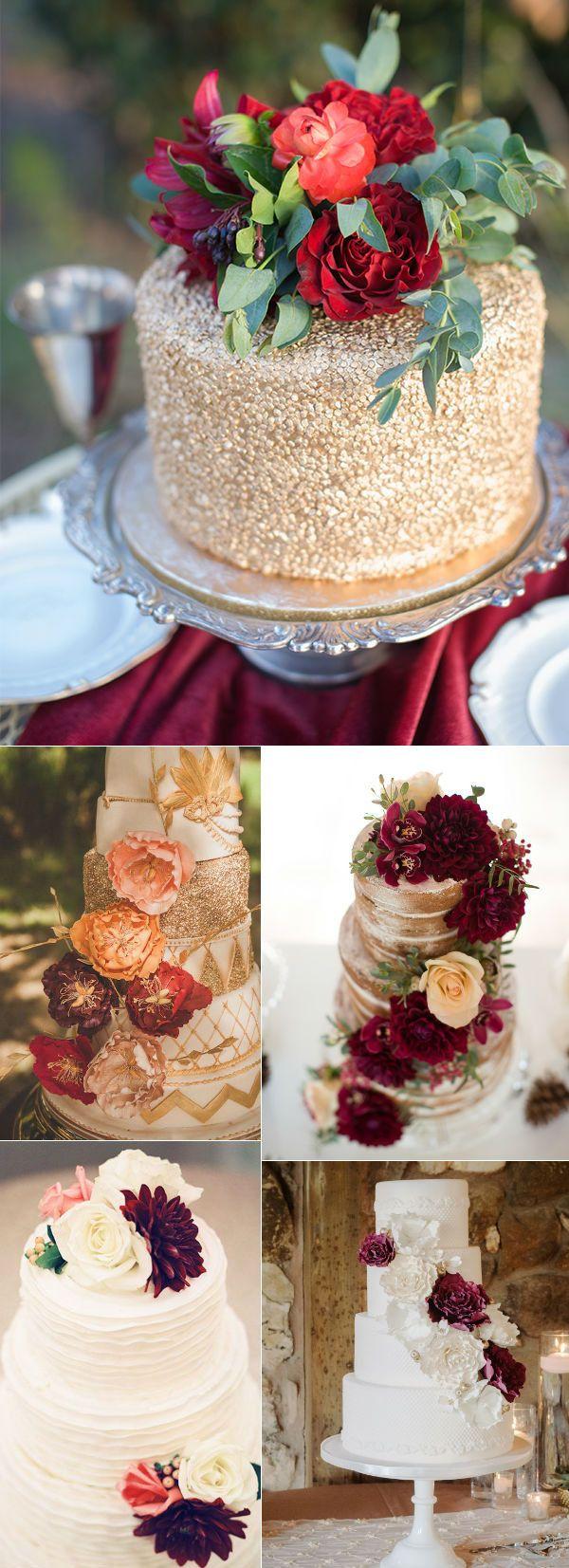 marsala fall wedding cake ideas