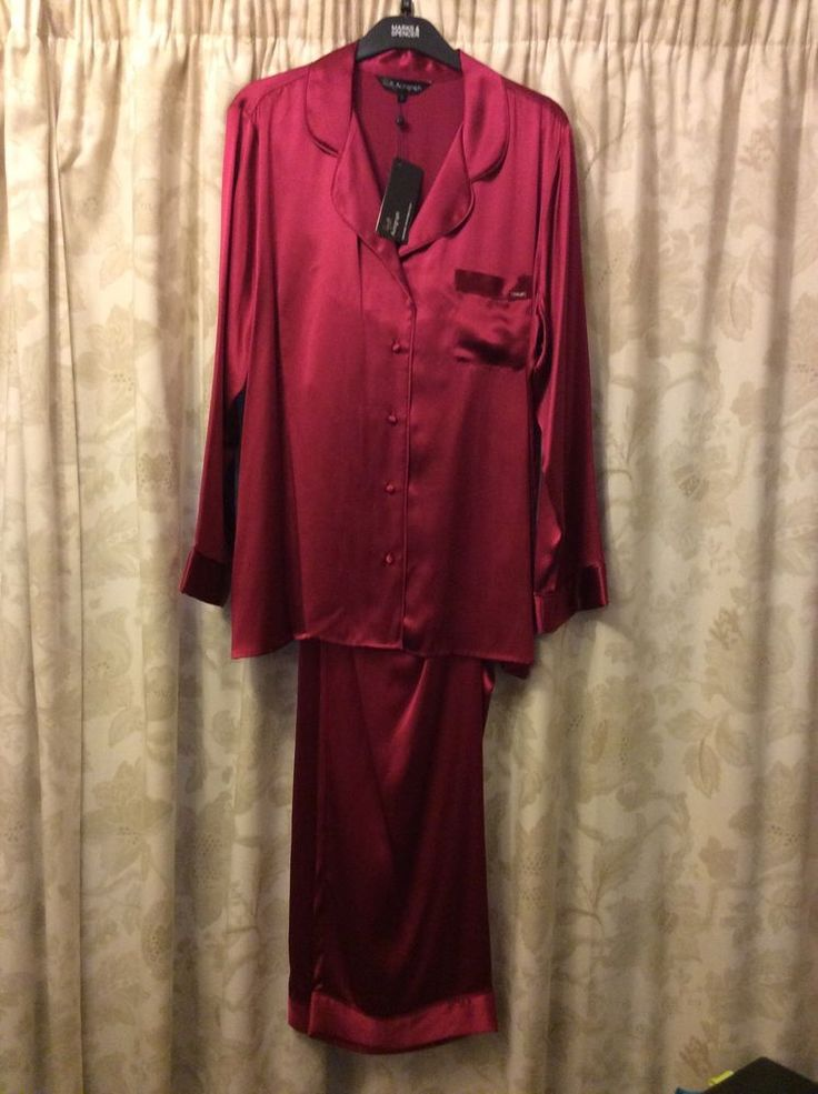 M&S ROSIE AUTOGRAPH ladies PYJAMA 100%SILK UK18 EU46 BNWT LUXURY RRP£99 Crimson
