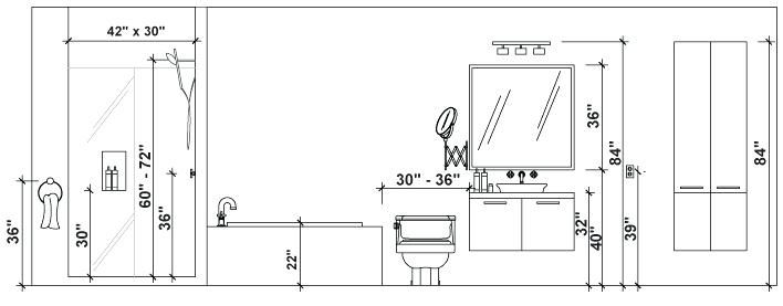 Image Result For Vanity Light Mounting Height Bathroom Dimensions Bathroom Floor Plans Bathroom Renovation