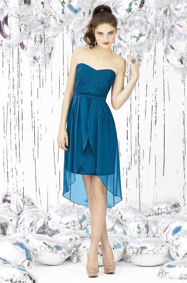 58 best blue bridesmaid dresses images on pinterest blue for Ocean blue wedding dress