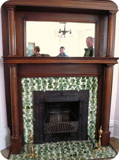 Antique Victorian Fireplace by Kim Naumann - Curiouser & Curiouser Designs, via Flickr