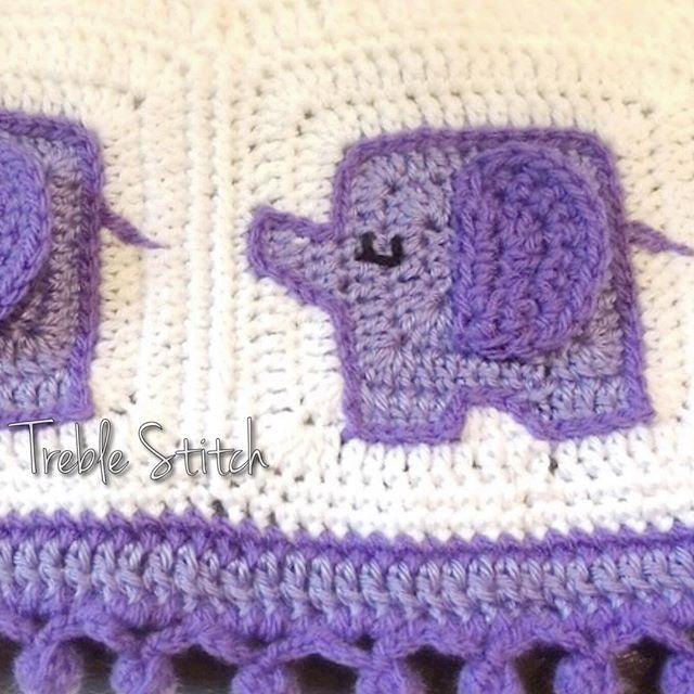 treble_stitch crochet elephant pattern ༺✿ƬⱤღ✿༻