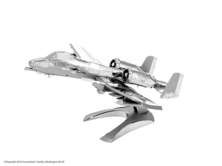 A-10 Thunderbolt Ii Warthog 3d Metal Kit Silver Edition Metal Earth 1109 #Fascinations