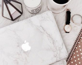 •• •WELCOME! •••  Ready to add a touch of class to your laptop with a Faux-Marble MacBook Decal? Not only does it protect your tech from scratches,