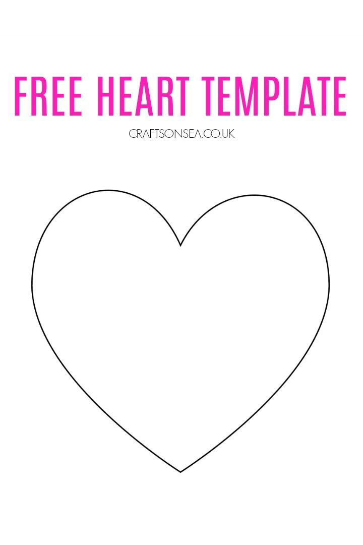 Free Heart Template Heart Template Valentine Crafts For Kids