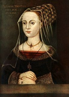 16th century portrait of Elizabeth Woodville, wife of Edward IV and mother of Elizabeth of York