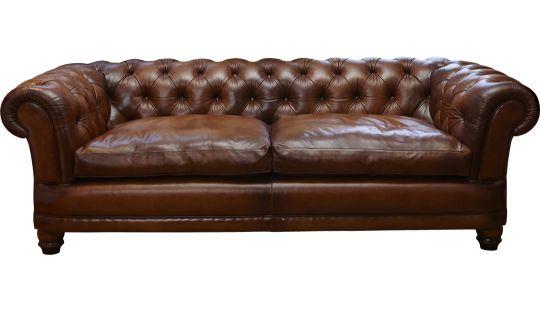 Cairness Large Sofa in Heirloom Premium Brompton Tan