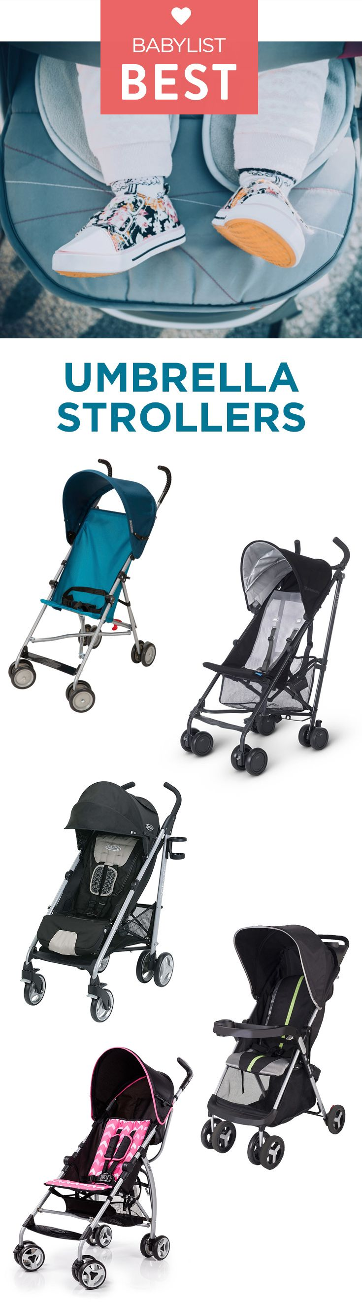 Check out the five best umbrella strollers according to thousands of Babylist parents.