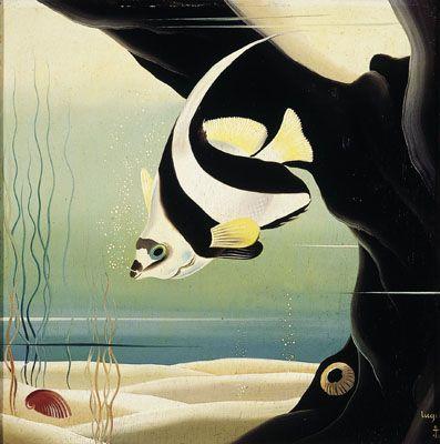 Fondo marino con pez