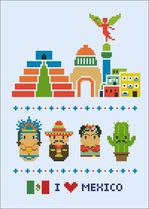 Iconos de Mexico pueblos de Mini mundo PDF cruz por cloudsfactory