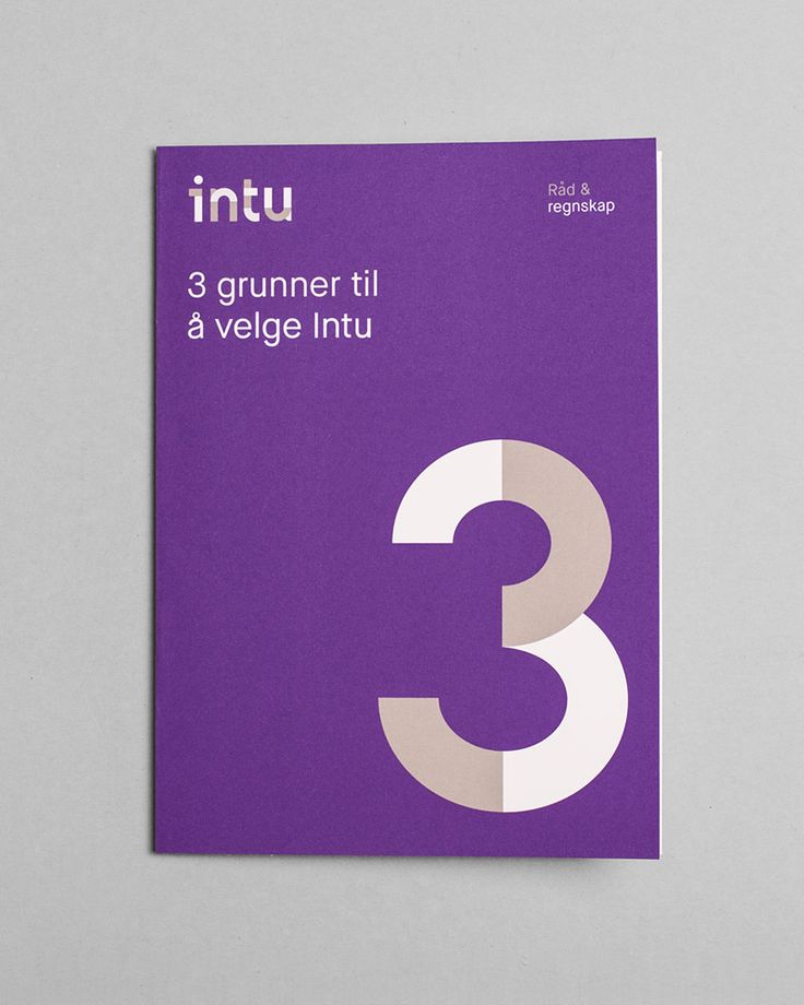 Logotype and print by Heydays for Norwegian accounting and consultant firm Intu