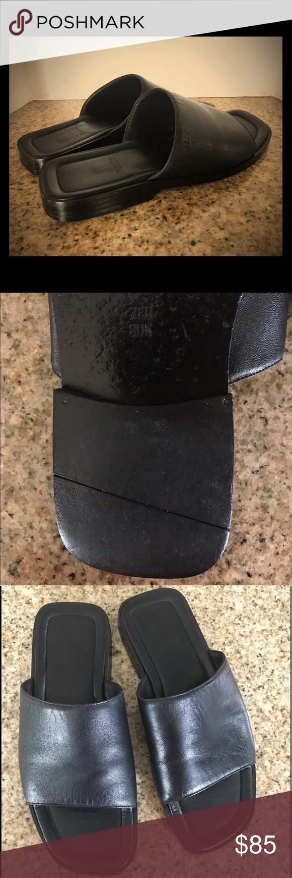Bally Switzerland black men's slip-ons Bally Switzerland black men's slip-ons in size 7 EU - 8 US. These are very elegant and sleek men's slip-on sandals made of fine Swiss leather and are in excellent condition, have been cleaned and are ready to enjoy. There are no flaws, no tears and no scuffs whatsoever. A steal for the price! Bally Shoes Loafers & Slip-Ons