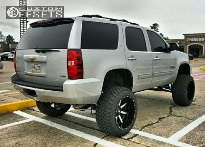3 2012 Tahoe Chevrolet Suspension Lift 9 Fuel Maverick Machined Accents Super Aggressive 3