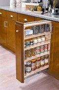 Verticle spice rack