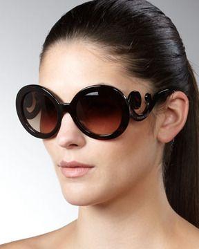 ShopStyle.com: Prada Baroque Sunglasses, Brown $290.00