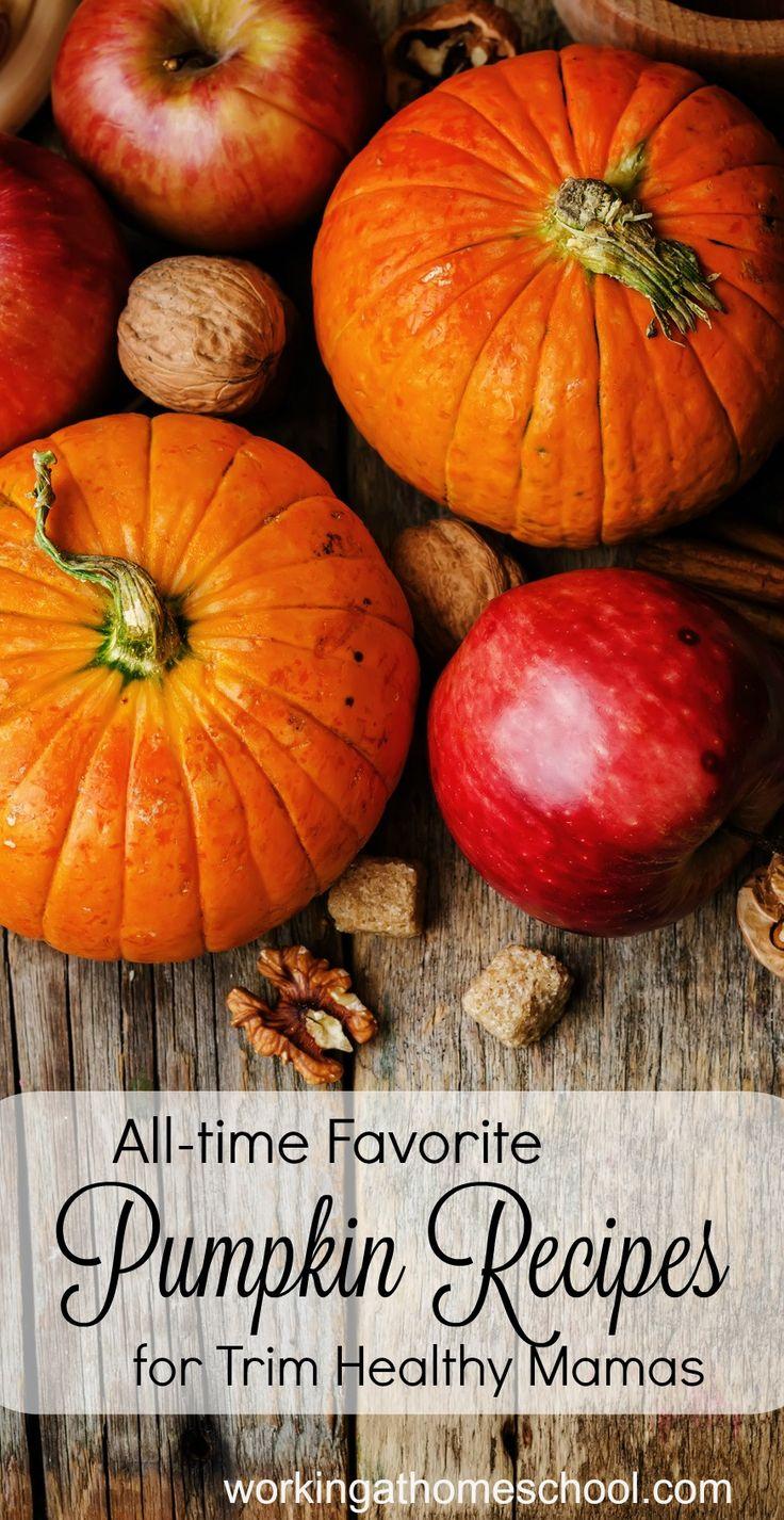 Trim Healthy Mama Pumpkin Recipes - my favorite healthy recipes for fall! Delicious pumpkin recipes for Trim Healthy Mamas.