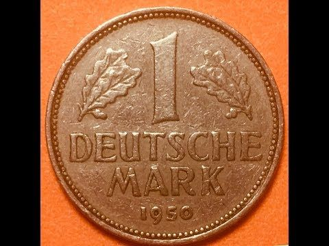 Germany 1 Deutsche Mark 1950 YouTube Germany, Deutsch