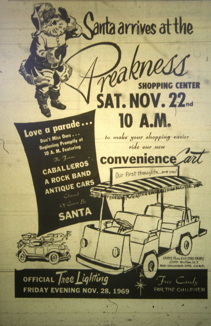 New jersey passaic county wayne - Preakness Holiday Ad In Wayne Nj 1969