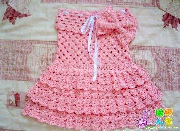 I found this crochet dress on the net and could not resist. I found it so beautiful that model in crochet I'll be doing, and also I...