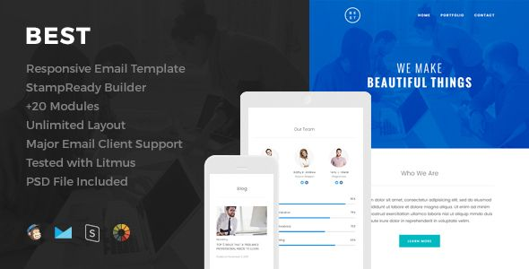 Best - Responsive Email Template  - Newsletters Email Templates