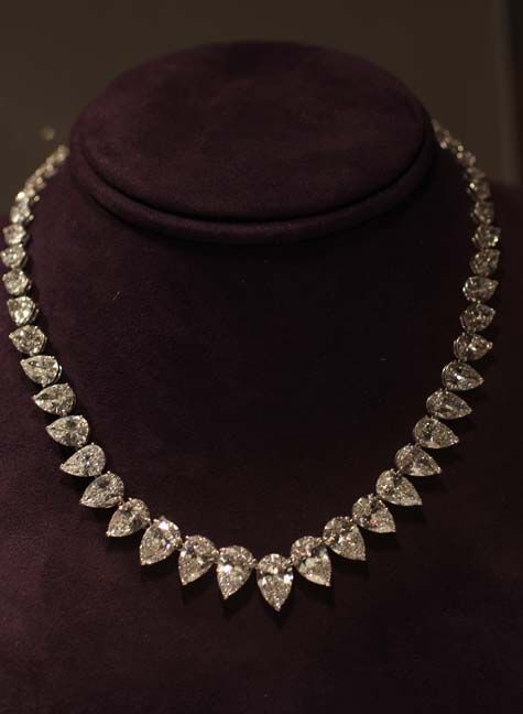 Diamond Line Necklace, by Cartier. December 2011 auction price $962,500. #Elizabeth #Taylor #jewelry