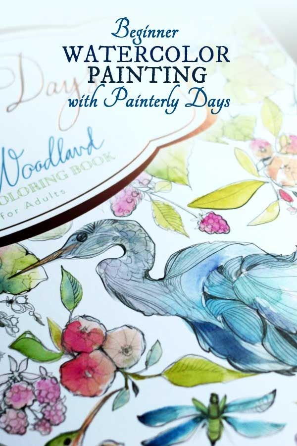 Painterly Days The Pattern Watercoloring Book Watercolor Books
