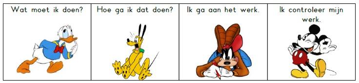 Zelfinstructiemethode van Meichenbaum (beertjesmethode) omgezet in Donald Duck.  jufinger.blogspot.com