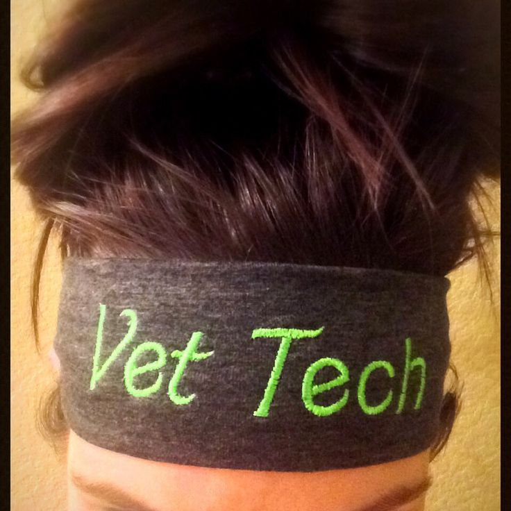 Vet Tech fashion embroidered headband. Great for long shifts at the clinic, assisting in surgeries or or just because! Makes a great gift too! Fits tight to the head and made from a soft jersey knit cotton stretch material. Get yours today from Mama Sews! @mamasews1 on Instagram or at www.etsy.com/shop/Mamasewz