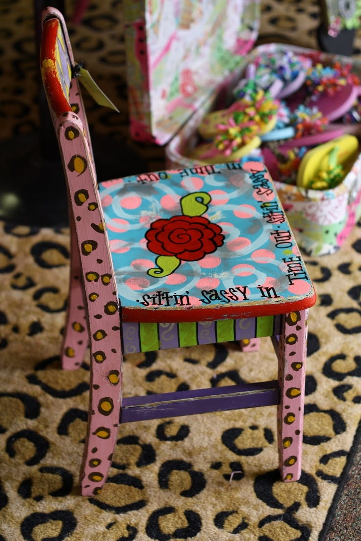 Funky painted furniture ideas - Time Out Chair Sittin Sassy