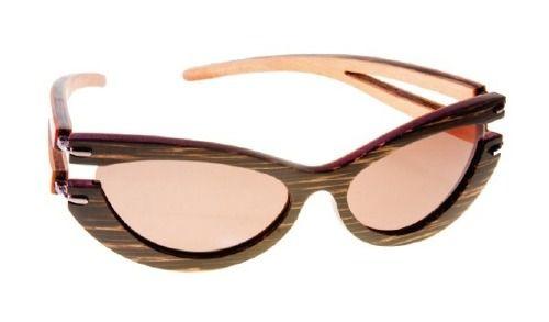Gafas de sol en madera, filtro UV, Mujer, marca Maguaco S020. Maderas: Macana y Carreto Guajiro. $200.000 COP