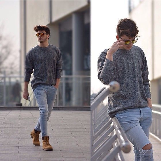 Get this look: http://lb.nu/look/8011320  More looks by Silesianfashionista: http://lb.nu/user/5525750-Silesianfashionista  Items in this look:  H&M Jeans, Timberland Shoes