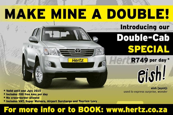 Our stunning Double Cab Special is only valid until the end of July, so hurry and take advantage NOW!