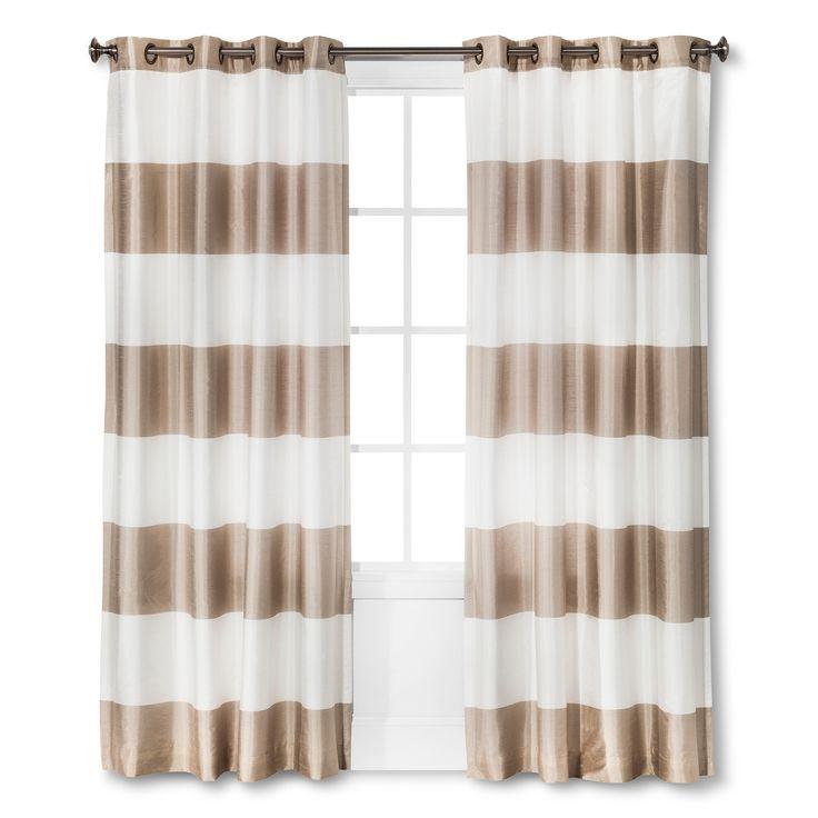 Bold Curtain Panel Tan (54x84'') - Threshold