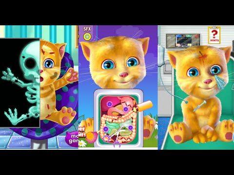 Series Games Talking Ginger At Doctor - My Talking Tom Games