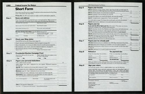 Federal Income Tax Form