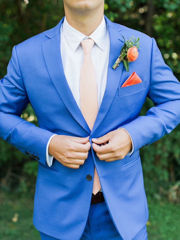 cobat blue suit - photo by Maria Lamb Photography http://ruffledblog.com/scenic-mt-hood-organic-farms-wedding