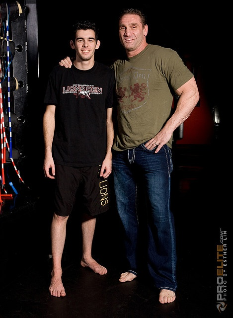 UFC icon and former WWE Superstar Ken Shamrock and his oldest son Ryan Shamrock. Ryan's mother is Ken's first wife Tina Ramirez. #WWE #WWEFamilies