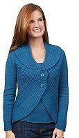 Motto Rib Knit Button Front Shawl Collar Cardigan - Shop for women's Cardigan
