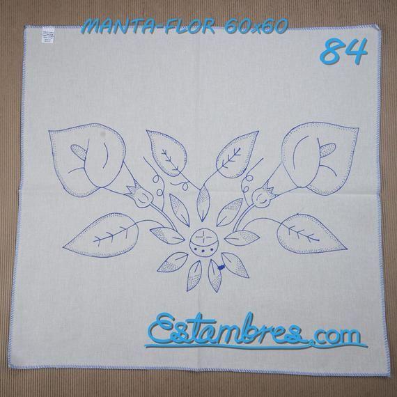 Manta 60x60 Flores Cojin En Manta Para Bordar Flores Para Etsy Patrones De Bordado Colchas Hawaianas Dibujos En Tela