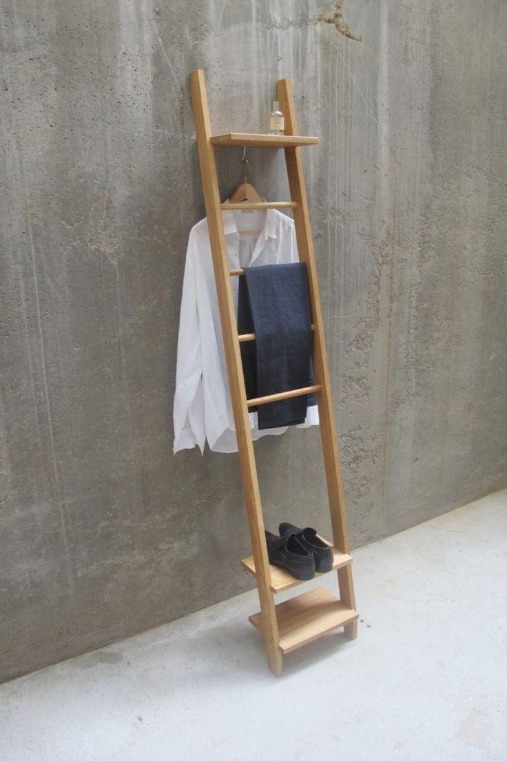KLEIDERLEITER MASSIVHOLZ MIT 3 REGAL TIDYBOY   Kleiderleiter, Diy möbel schlafzimmer ...