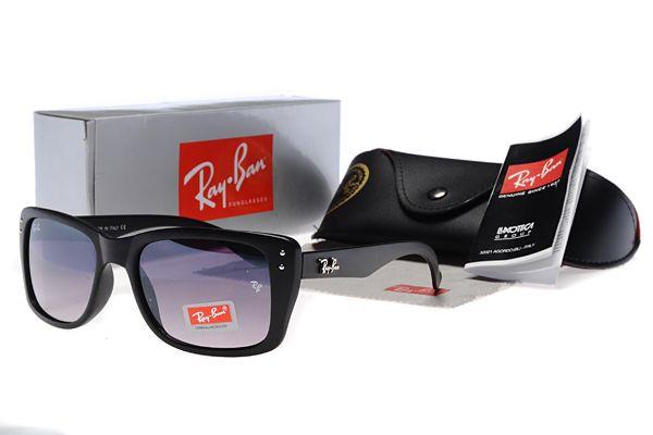 New 2014 Ray Ban Wayfarer Black Purple Lens Sunglasses