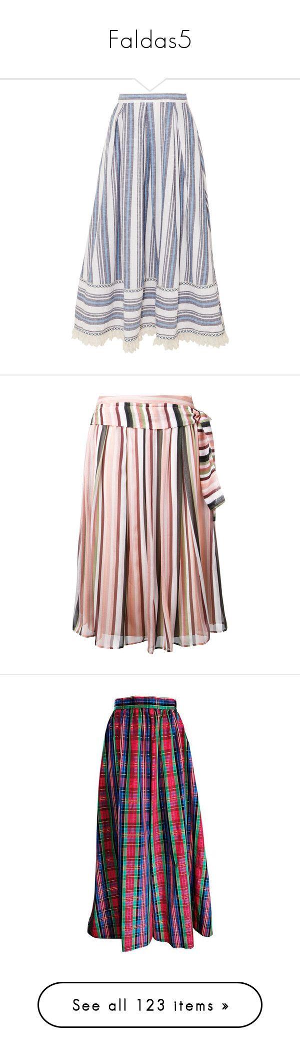 """Faldas5"" by yblacasa ❤ liked on Polyvore featuring skirts, bottoms, midi skirt, striped, striped midi skirts, calf length skirts, stripe midi skirt, a line midi skirt, a-line skirt and pink silk skirt"