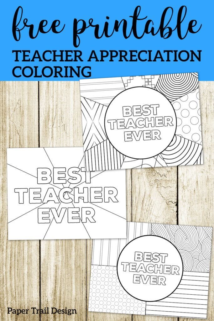 Teacher Appreciation Coloring Pages Free Printables From Paper
