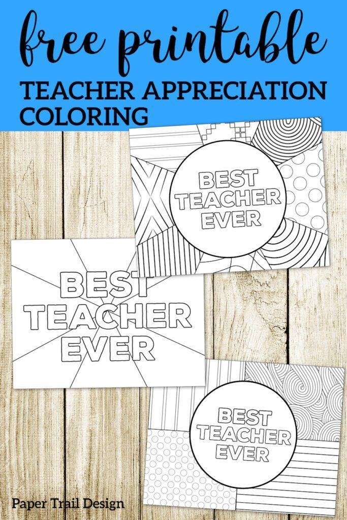 Teacher Appreciation Coloring Pages Paper Trail Design Teacher Appreciation Cards Teacher Thank You Cards Teacher Appreciation