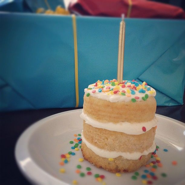 soup can birthday cake!  so cute and perfect for little ones.