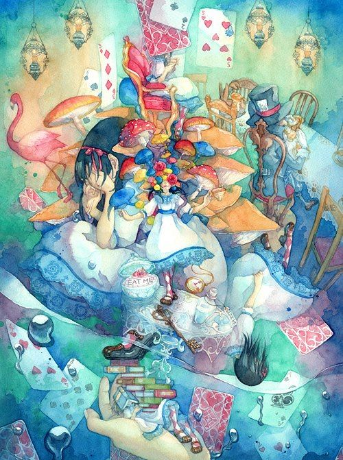 Psychedelic Alice In Wonderland Life Is A Trip