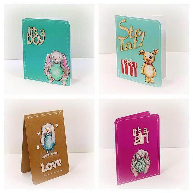 kartki dla dzieci handmade card