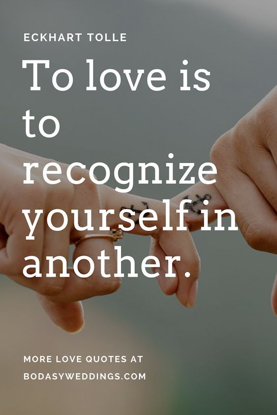 To love is to recognize yourself in another. #lovequotes
